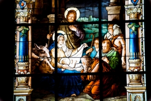 © Prescott09 | Dreamstime.com - Nativity Scene. Stained Glass Window Photo