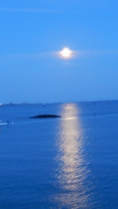 St. Aubin's Bay by moon light Image Credit: Kathleen DesOrmeaux Copyrighted August 2015